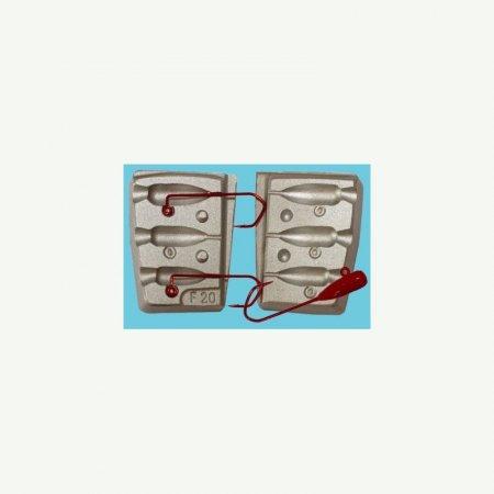 MATRITE PLUMBI JIGURI matrite plumbi model F20 cavitati de 13-10-8g pentru orice tip de ac