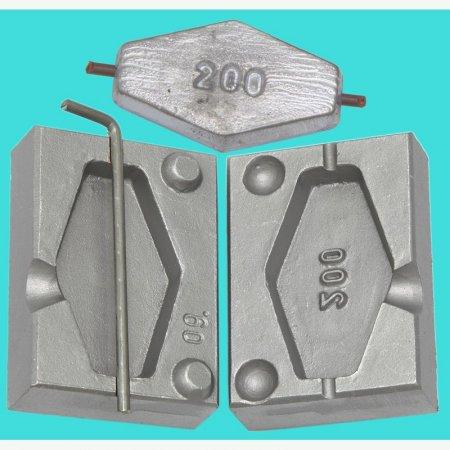 MATRITE PLUMBI CULISANTI model F 09 marimea cavitatilor 200gr DIAMETRU GAURA 3,2 MM