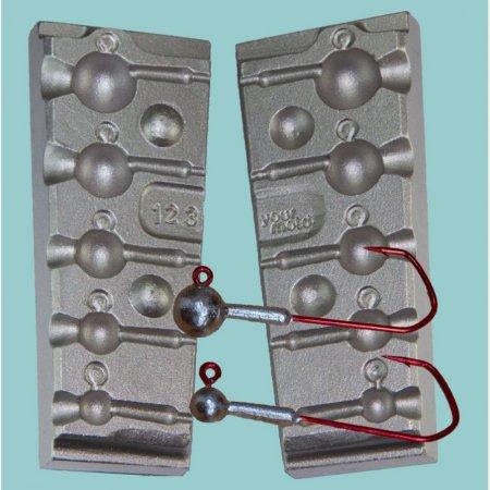 MATRITE PLUMBI JIGURI model F123 cavitati de 5,5-8-12-18-25g ace de marimea 3/0-4/0