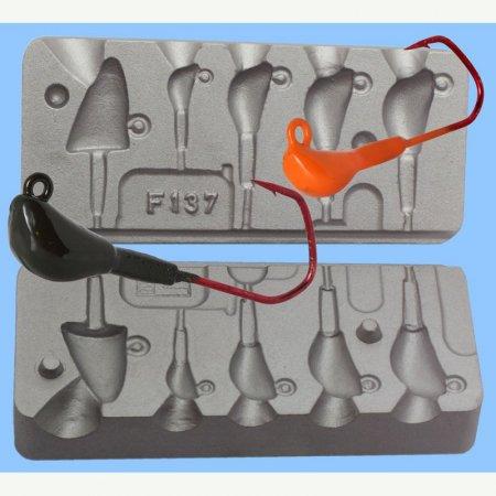 MATRITE PLUMBI JIGURI model F137 cavitati de 18-16-14-10-3g ace de marimea 1/0-4/0-5/0-6/0