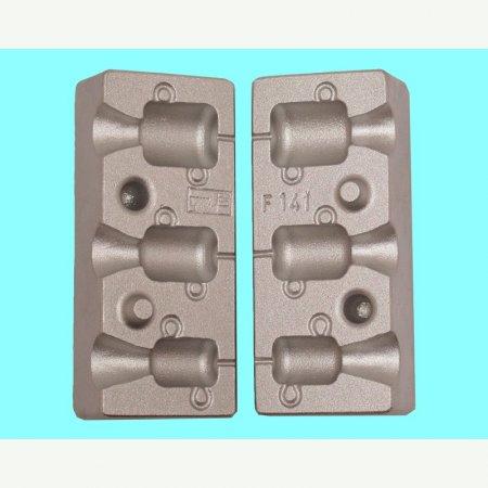 MATRITE PLUMBI FICSI model F 141 marimea cavitatilor 20-30-45 gr agatatoare agrafa model 7201