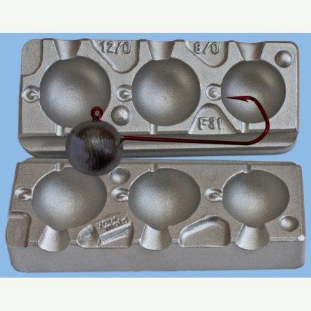 MATRITE PLUMBI JIGURI model F31 cavitati de marimea 120-150-180g pentru ace de marimea 12/0-8/0