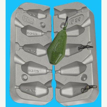 MATRITE PLUMBI FICSI model F39 marimea cavitatilor 20-30-40-50-60 gr agatatoare vartej de 8