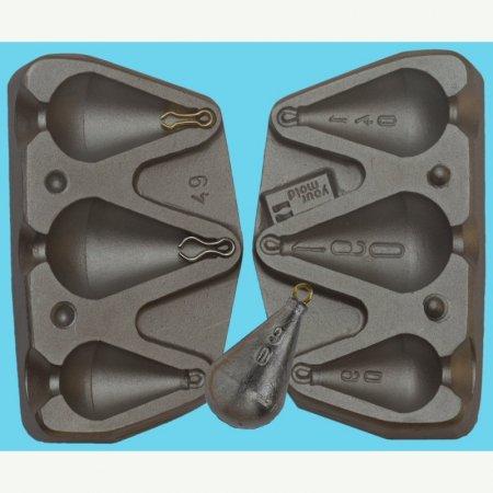MATRITE PLUMBI FICSI model F49 marimea cavitatilor 90-140-190 gr agatatoare agrafa 7201