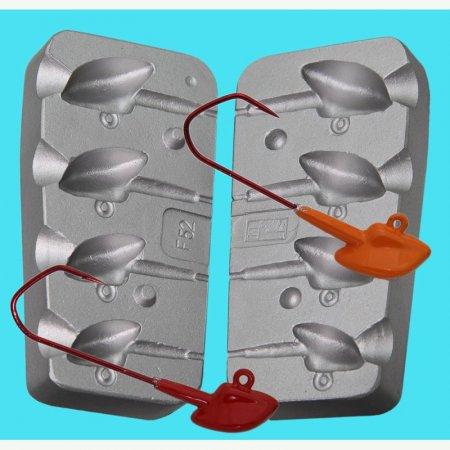 MATRITE PLUMBI JIGURI model F52 cavitati de marimea 40-50g pentru ace de marimea 5/0-6/0