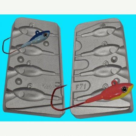 JIGURI model F71 cavitati de marimea 16-18-20-25g pentru ace de marimea 3/0-4/0