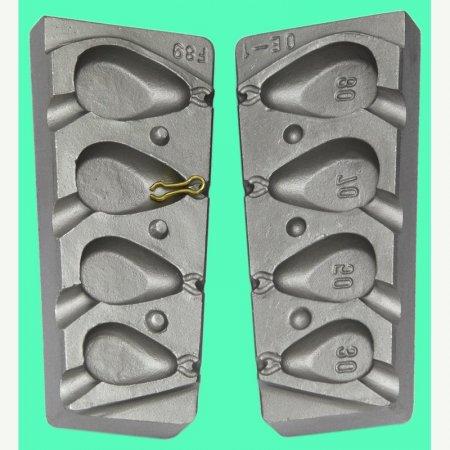 MATRITE PLUMBI FICSI model F89 marimea cavitatilor 30-50-70-80gr agatatore agrafa 7201